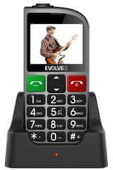 Evolveo EasyPhone FM, stříbrný