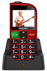 Evolveo EasyPhone FM, červený
