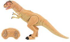 Teddies Dinosaurus chodiace IC velociraptor 50 cm so zvukmi a svetlami oranžový