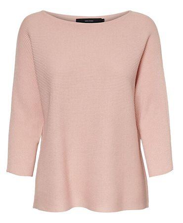 Vero Moda Ženski pulover VMNORA 3/4 BOATNECK BLOUSE NOOS Sepia Rose (Velikost XS)