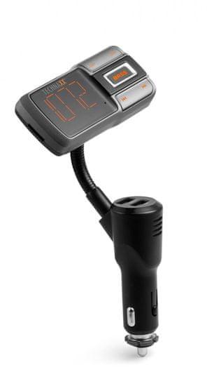 Technaxx Bluetooth FM transmitter, QC3.0 nabíjanie, Bass Booster, FMT1350BT (4822)