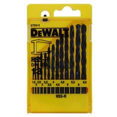 DeWalt Sada vrtáků do kovu HSS-R DIN 338 DT5912, 13 dílná