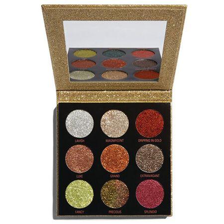 Makeup Revolution Žiariace paletky trblietok (Pressed Glitter Palette) 9 x 1,2 g (Odtieň Hot Pursuit)