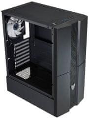 FSP group Fortron CMT270, priehľadná bočnica, 1x RGB LED 120 mm, čierna