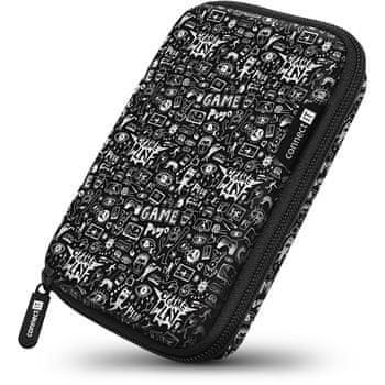 """Connect IT HardShellProtect pevné škrupinové ochranné púzdro na 2,5"""" HDD, Doodle (CFF-5000-DD)"""