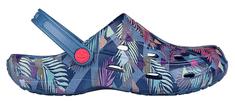 Coqui Dámske šľapky Tina Print ed Niagara Blue / Tropic al 1353-206-5100