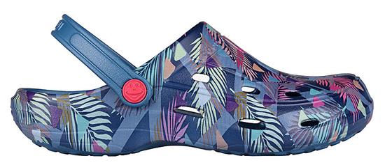Coqui Dámske šľapky Tina Print ed Niagara Blue / Tropic al 1353-206-5100 (Veľkosť 39)