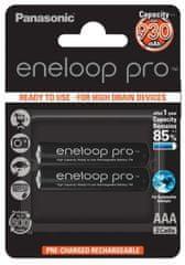 Panasonic BK-4HCDE / 2BE Eneloop Pro AAA, HR03, 930mAh, Ni-MH, blister 2szt. (BK-4HCDE / 2BE)
