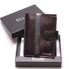 Ellini Pánská kožená peněženka černá Claudio