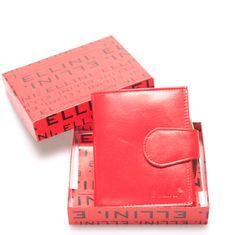 Ellini Dámská kožená peněženka červená Ellini Paris