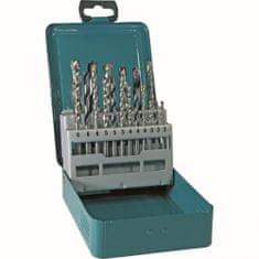 Makita set svedrov v kovinski škatli, 18-delni (D-46202)