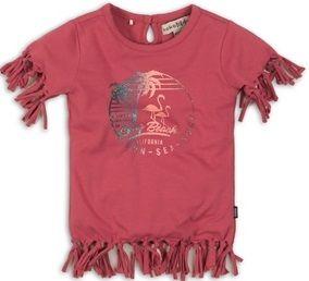 KokoNoko dievčenské tričko so strapcami, 98, ružové