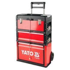 YATO Vozík na nářadí, 3 sekce, 1 zásuvka