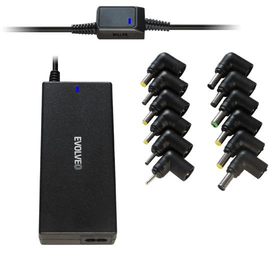 Evolveo Chargey A90, 90W napájací zdroj pre notebooky (Chargey A90)
