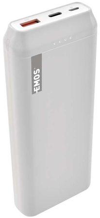 EMOS powerbank AlphaQ 20, 20000 mAh 1613052501, biały