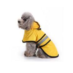 MARVEL Reflexní pláštěnka pro psa - Žlutá XS