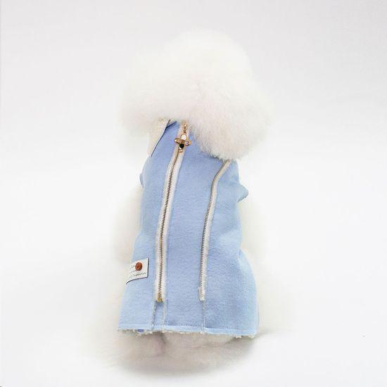 Poochin Vesta pro psa - Světle modrá L