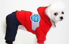 Poochin Zateplená kombinéza pro psa s kapucí - Červená L
