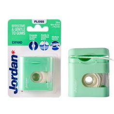 Jordan Expand Rozpínací zubní nit s fluoridem, voskovaná, máta, 25 m