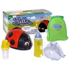Flaem LELLA LA COCCINELLA Pneumatyczny inhalator tłokowy dla dzieci z nebulizatorem, biedronka