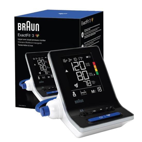 Braun EXACTFIT ™ 3 BUA6150 ramenný tlakoměr + dvě manžety