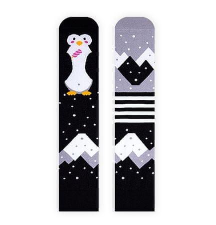 Nanushki Pinguin On Ice nogavice, 36 - 39, črne/sive