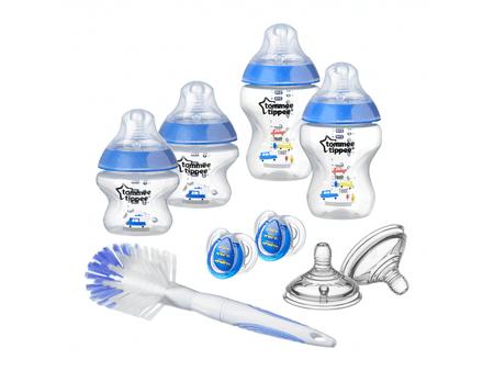 Tommee Tippee zestaw butelek dla niemowląt C2N ze szczoteczką, niebieski