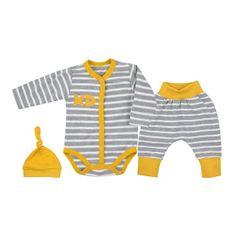 KOALA 3-dielna bavlnená dojčenská súprava Koala XD horčicová 68 (4-6m) Žltá