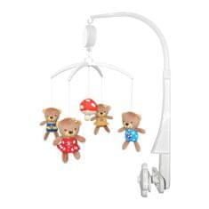 Baby Mix Kolotoč nad postieľku Baby Mix Medvedíky s muchotrávkou Multicolor