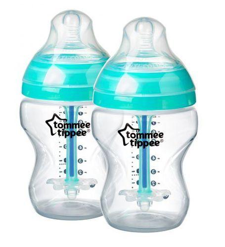 Tommee Tippee Kojenecká láhev C2N anti-colic, 2ks, 260 ml