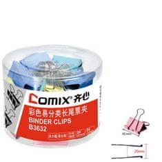 Comix Binder Clip Color 41mm Comix B3632