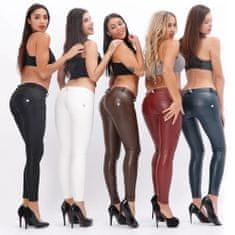 Royal Wolf Dámské legíny Melody Push-Up Leg-Jeans, imitace kůže, lesklé, NP XS