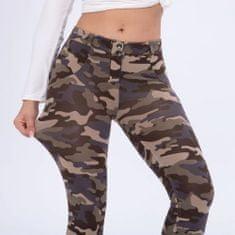 Royal Wolf Dámské legíny Melody Push-Up Leg-Jeans, Camo Brown, NP 2XL
