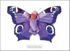 Anne Geddes Pohlednice , modrý motýl