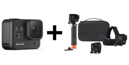 GoPro Hero 7 Black športna kamera + pustolovski paket (AKTES-001)