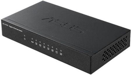 Asus GX-U1081, 8x Gigabit port mrežno stikalo