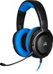 Corsair HS35 Stereo, modrá (CA-9011196-EU)