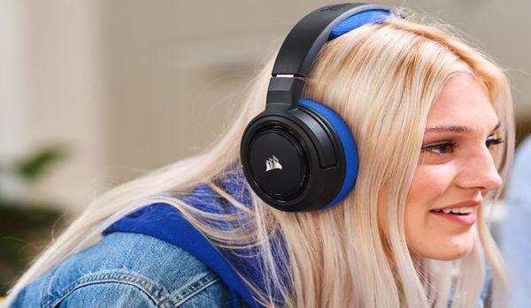 Słuchawki stereo Corsair HS35 mają neodymowe przetworniki 50 mm, zestaw słuchawkowy i odłączany mikrofon