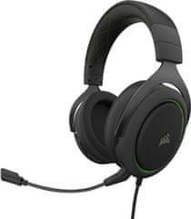 Corsair słuchawki do gier HS50 Pro Stereo, zielony