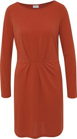 VILA Ženska obleka VICLASSY L / S DETAIL DRESS - FAV Kečap (Velikost XS)