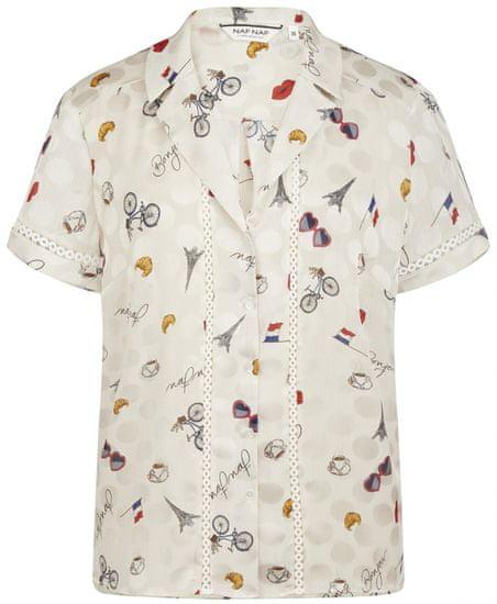 NAFNAF dámska košeľa MENC35 36 smotanová