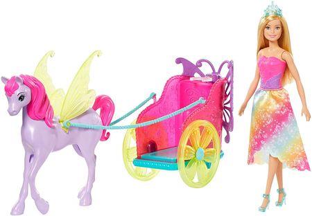Mattel Barbie Hercegnő hintóval és mesebeli ló