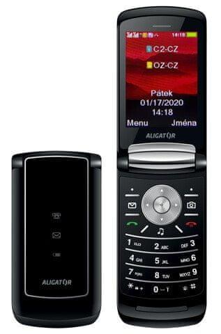 Aligator DV800 Dual SIM, Black - rozbaleno