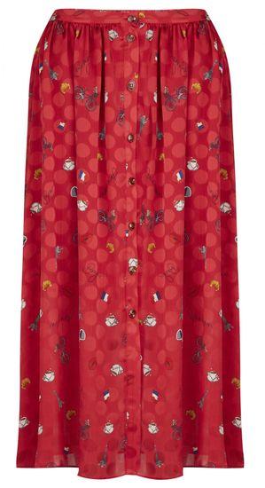 NAFNAF dámska sukňa MENJ17 40 červená