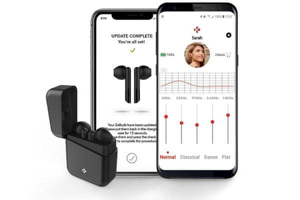 lenyűgöző Bluetooth 5.0 vezeték nélküli fülhallgató mykronoz zebuds premium 10 m hatótávolság tiszta hang ipx4 vízálló handsfree hangvezérlés hd mikrofon zajszűrő 4 órás működés töltő tok 4 teljes feltöltődésért kényelmes ergonómiai dizájn