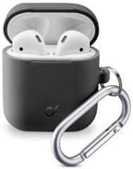 CellularLine Ochranný kryt s karabinou Bounce pro Apple AirPods 1 & 2 BOUNCEAIRPODSK, černý
