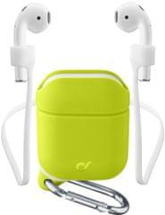 CellularLine Ochranný kryt s karabínou Sprint pre Apple AirPods 1 & 2 SPRINTAIRPODSL, zelený
