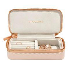 Eppi Stredné cestovné puzdro na šperky ružové Paris AC37231