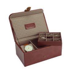 Eppi Pánské pouzdro na hodinky a doplňky hnědé London AC37685