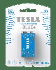 TESLA 1099137098 9V BLUE+ Zinc carbon , 6F22, BLISTER/1ks